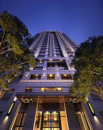 高层住宅楼灯光透视图 JPG