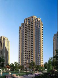 高层住宅楼景观效果图 JPG