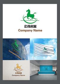 马图案主题公司标志LOGO