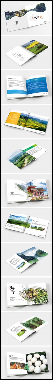 乡村旅游开发招商宣传画册设计