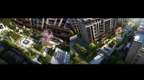 住宅内院景观效果图 JPG