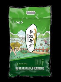 长粒香米米袋图