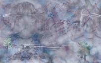 创意大理石纹理山水背景墙