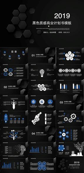 黑色商业计划书PPT模板