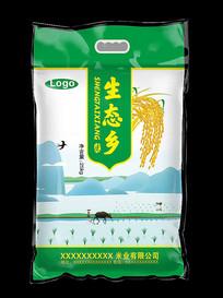 生态乡大米包装袋