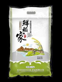 鲜稻家大米包装图