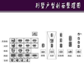 别墅户型剖面整理图
