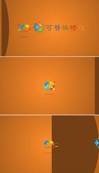 简洁3dlogo演绎片头模板