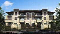 新中式住宅别墅效果图