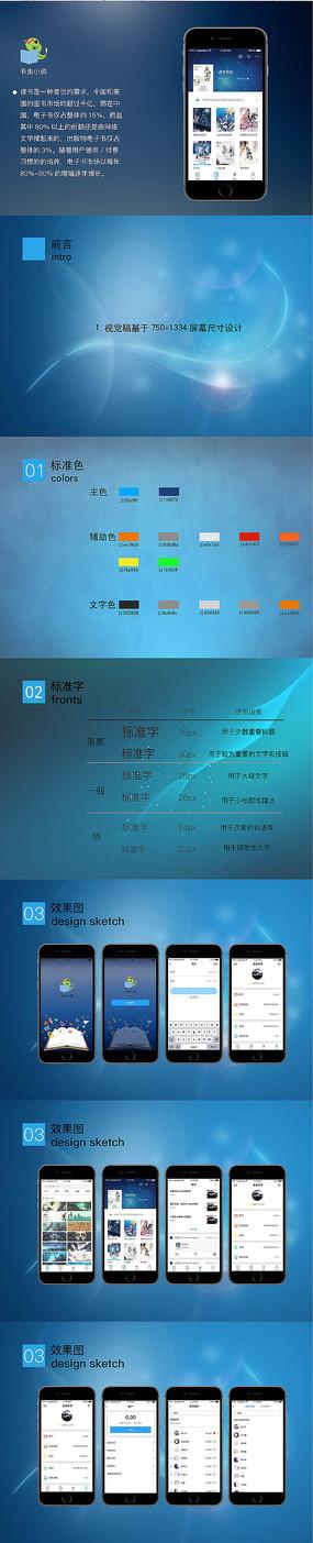 读书app界面设计 PSD