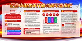 改革开放40周年宣传展板
