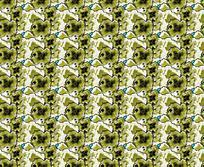 绿色花卉式样对称纹样背景图案素材JIG JPG