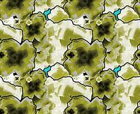 绿色式样对称纹样背景图案素材JIG