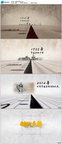 上海城市时间线片头AE