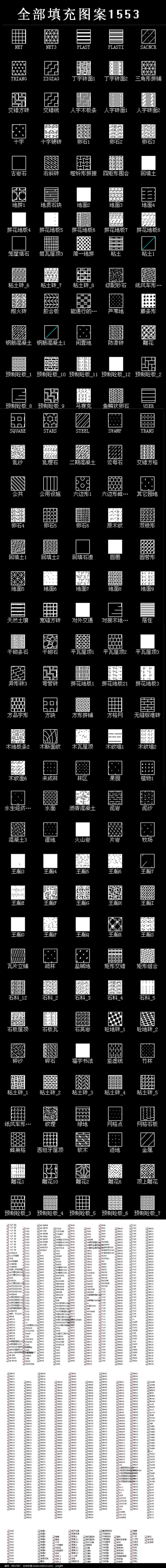 CAD自定义填充图案大全图片