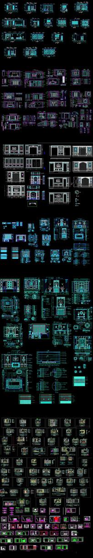 电视背景墙CAD素材
