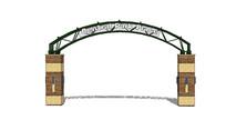 公园入口大门模型