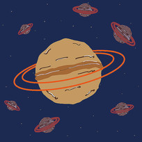 简约食品核桃星球插画矢量图