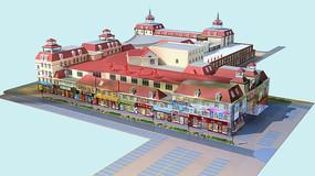 欧式建筑 商场模型