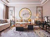 新中式花纹客厅