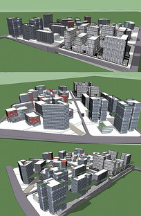 中高层建筑方案SU模型