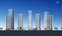 办公高层建筑立面图