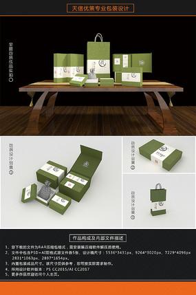 藏香花菩提古典佛珠包装盒 PSD
