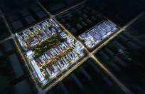 产业园区夜景鸟瞰图 JPG