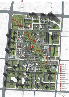 城市绿地彩平设计