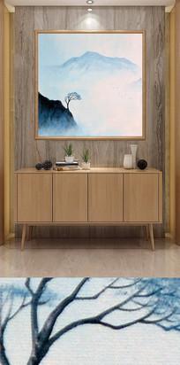 水墨山水客厅装饰画