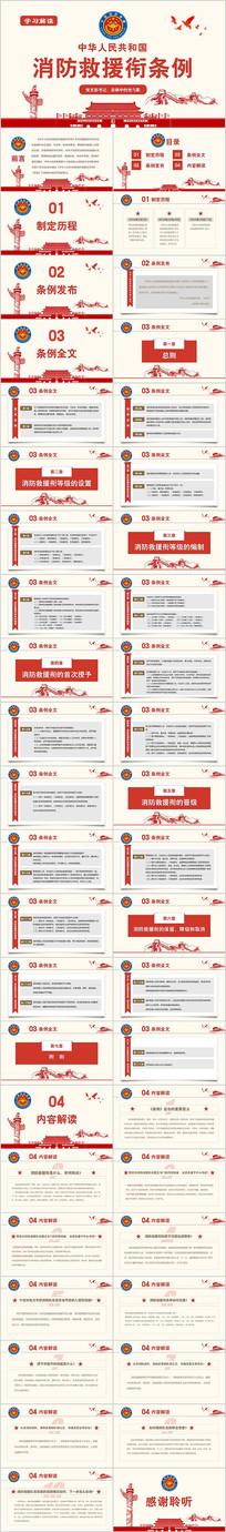学习解读消防救援衔条例ppt