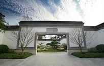 中式古典庭院景观大门 JPG