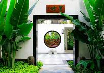 中式徽派镂空景墙 JPG