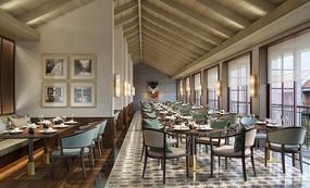 中式酒店中式餐厅效果图