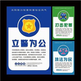 公安警察文化标语挂图