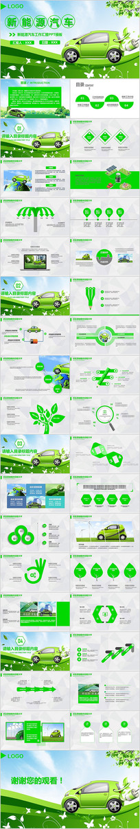 绿色环保新能源汽车PPT