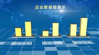 企业科技柱状图展示AE模板