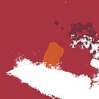 时尚红白布料装饰迷彩
