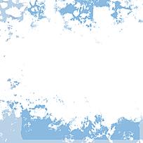 时尚蓝白服饰装饰迷彩