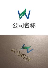 英文W字母logo设计