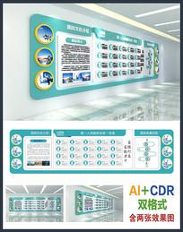 诊所医院展示文化墙设计