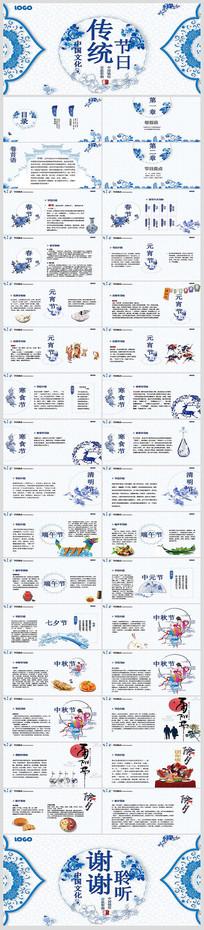 中国传统节日介绍PPT模板