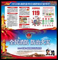 2018全国消防日宣传展板