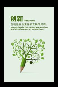 简约企业文化创新挂图