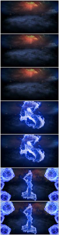 蓝色火焰倒计时视频