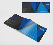 现代风格蓝色封面设计