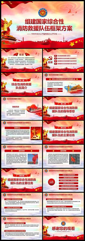 学习消防救援队伍构架PPT pptx