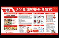 2018年消防安全日展板