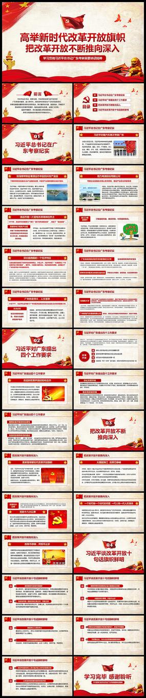 广东改革开放重要讲话PPT pptx