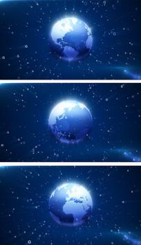 4K5G数据地球旋转科技会议视频素材